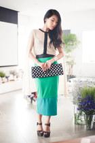 turquoise blue asos skirt