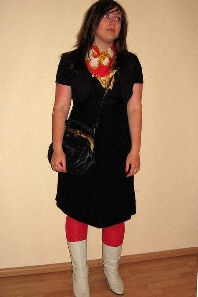 flea market purse - H&M dress - flea market shoes - Vintage Shop accessories