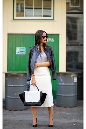 Zara skirt - Christian Louboutin shoes - Mango jacket - Celine bag
