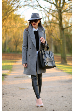 Zara coat - Topshop hat