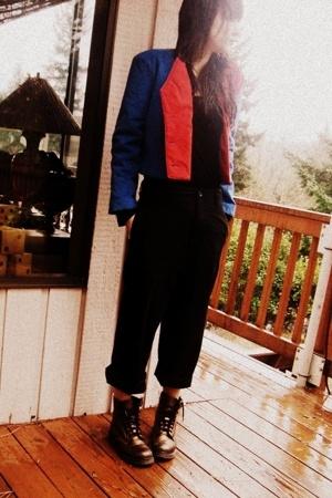 vintage jacket - Target pants - doc martens boots
