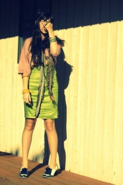 vintage skirt - vintage sweater - Marc by Marc Jacobs shoes