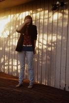 AF Vandervorst blazer - Dries Van Noten vest -  shirt - UO jeans