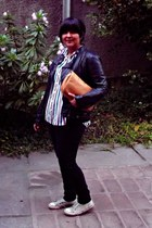 Secondhand purse - PepeJeans jeans - Mossimo jacket - Converse sneakers