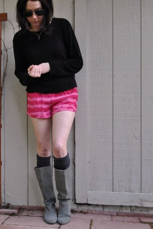 patterson j kincaid shorts - Urban Outfitters boots - thrifted vintage sweater