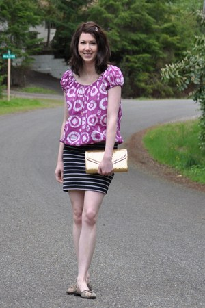 Forever 21 skirt - thrifted top - Target flats
