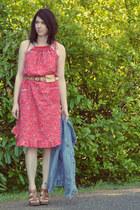 vintage dress - thrifted jacket - free people belt