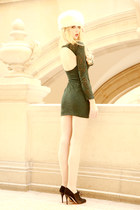 Zara dress - Christmas Market hat - richelieu LK Bennett heels