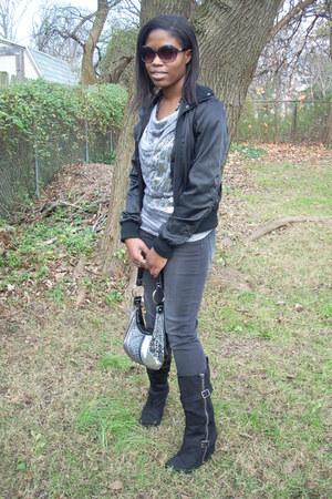 black apostrophe boots - black Ashley by twenty six international jacket