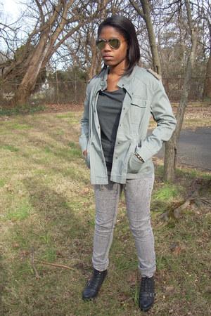 olive green military style uk style french connection jacket