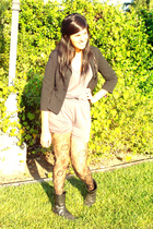 gray Pink Zone dress - black INC blazer - black Express tights