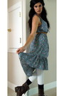 Sky-blue-dress-white-frenchi-tights-dark-brown-shoes-navy-socks-