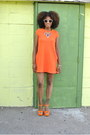 Orange-zara-dress