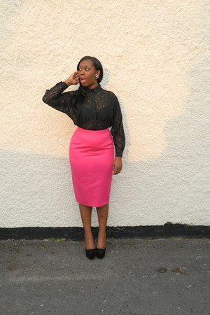 hot pink StVintage London skirt