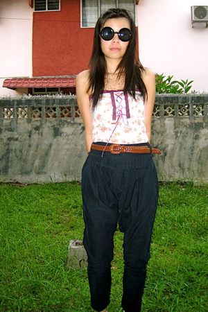 thrift from BKK glasses - random top - thrift from BKK pants - thrift from BKK b