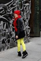 black Marc New York by Andrew Marc coat - yellow asos jeans
