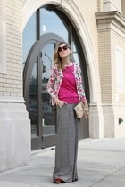 pink abercrombie & fitch cardigan - hot pink Tommy Hilfiger sweater