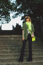 Navy-blank-nyc-jeans-olive-green-mural-jacket-lime-green-gap-scarf