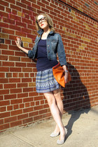 navy Heritage 1981 jacket - orange American Apparel bag - blue Paprika skirt