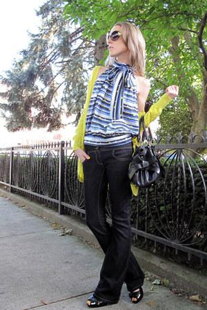 black Pura Lopez shoes - navy asos jeans - black Leo Ventoni bag