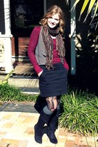 black Charlotte Russe boots - black Target tights