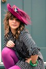 Magenta-prima-donna-hat-black-vintage-boots-magenta-prima-donna-leggings