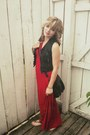 Red-charlotte-russe-dress-black-charlotte-russe-vest