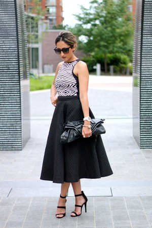 black Forever 21 top - black H&M skirt