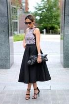 black Forever 21 top - black H&M skirt