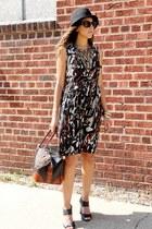 H&M hat - Zara dress - vintage bag