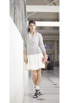 Zara dress - H&M cardigan - Zara heels
