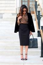 black Zara blazer - black Zara heels