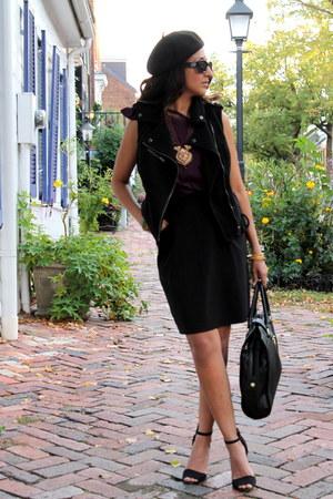 Haute Heritage blouse - H&M vest - Love by Ya-Ya skirt - Zara heels