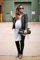 black H&M leggings - charcoal gray Zara boots - heather gray All Saints shirt