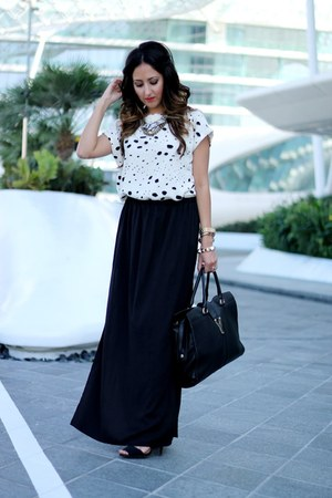 black Zara skirt - black Zara heels - black Haute Heritage blouse