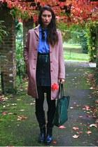 Miu Miu coat - Steve Madden boots - vintage shirt - vintage skirt