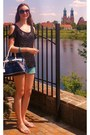 Navy-italy-bag-aquamarine-bershka-shorts-black-h-m-top