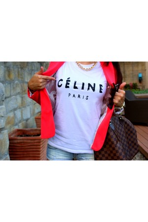 Celine t-shirt - Sheinside blazer