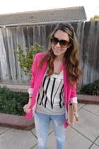 hot pink Forever21 blazer