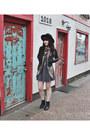 Black-ankle-boots-steve-madden-boots-heather-gray-skater-forever-21-dress