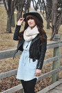 Black-ankle-boots-hibou-boots-light-blue-spring-blue-by-rd-dress