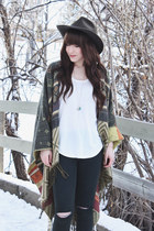 gold necklace shesso necklace - brown ankle boots Steve Madden boots