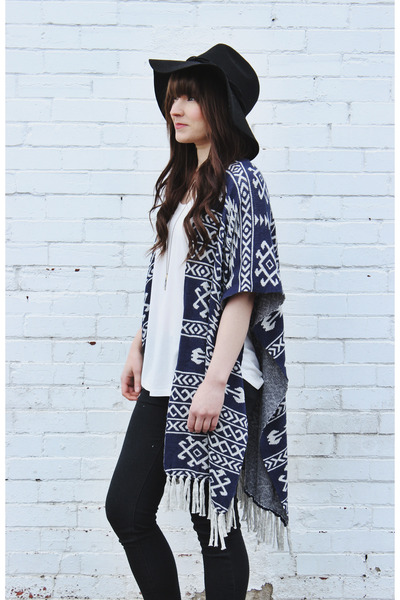 black floppy hat free people hat - black ankle boots Steve Madden boots