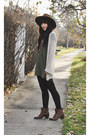 Olive-green-t-shirt-dress-others-follow-dress-brown-wide-brim-goorin-bros-hat