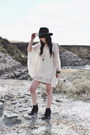 Dark-brown-suede-boots-dolce-vita-boots-off-white-kaftan-lovestitch-dress