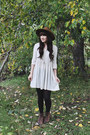 Brown-lace-up-boots-hibou-boots-ivory-white-dress-urban-outfitters-dress