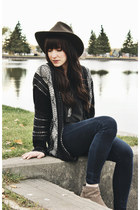 black Lush cardigan - navy Just Usa jeans