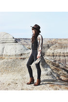 gold moon shesso necklace - brown ankle boots Steve Madden boots