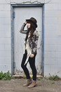 Heather-gray-ankle-boots-crown-vintage-boots-navy-skinny-jeans-just-usa-jeans