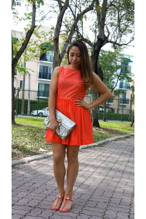 lace dress American Apparel dress - shoes - Urban Expressions purse